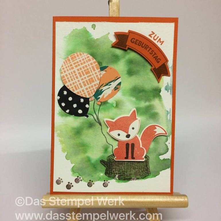 foxy friends, Geburtstagshurra, Geburtstag, Geburtstagskarte, Stampin´Up!