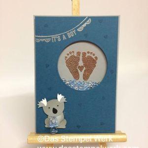 Stampin Up, aus freudigem Anlass, Koala Bär, Geburtskarte,