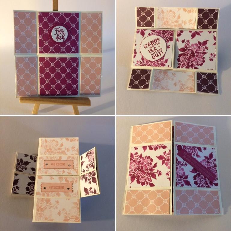unendliche Karte, stampin Up, florale fantasien, sommerbeere, feige