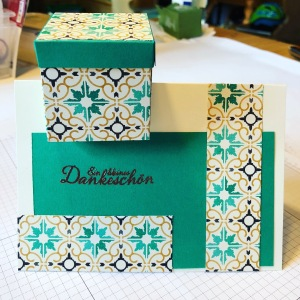 Stampin Up, Kartenbox, Geschenkbox, Silvester, Weihnachten
