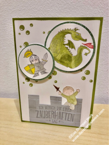 Zauberhafter Tag, Stampin Up, Olivegrün, Moon Baby, Junge