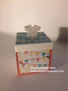 Explosionsbox, Geburt, Stampin Up, Geschenk