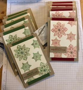 Weihnachtskarte, Flockenzauber, Grußkarte