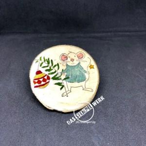Glanzfarben, Stampin Up, Baumscheiben, Weihnachtsschmuck