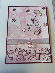 Babykarte, Geburt, Glückwunsch, Junge, Mädchen